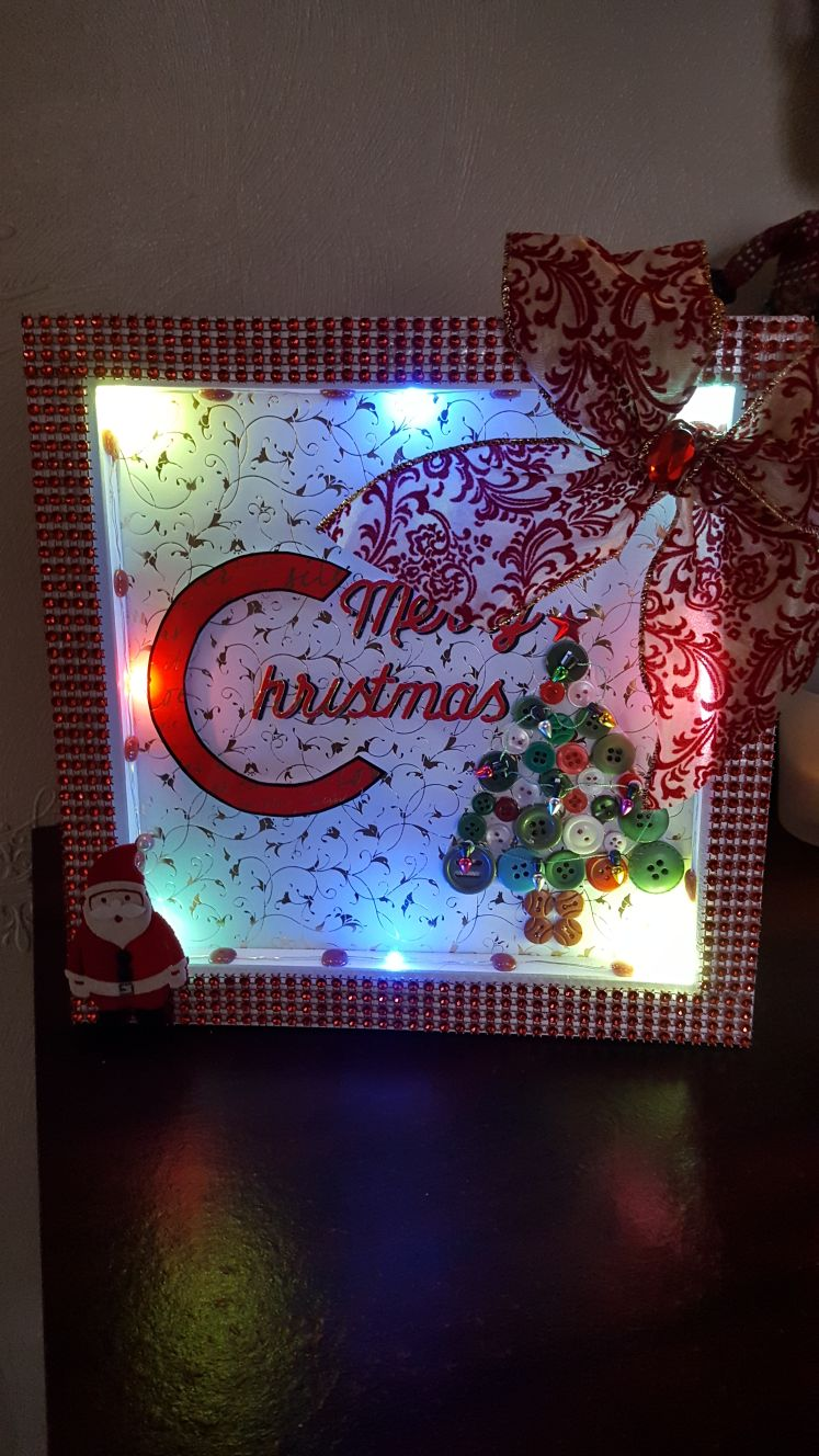 Christmas frame with lights