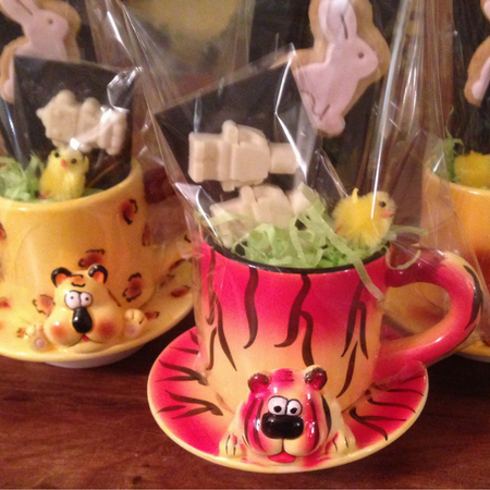 Easter treats in tea cups
